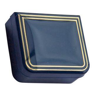 edle Rosenkranz bzw. Schmuckdose, blau goldf. 4,5 x 4 cm